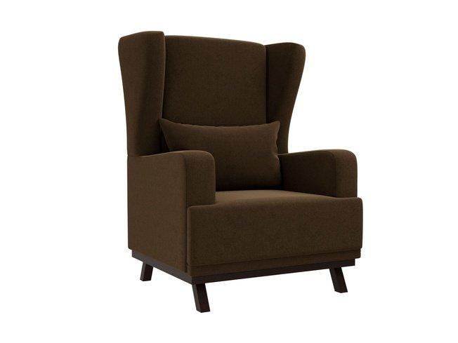Кресло Джон, коричневое/микровельвет фото