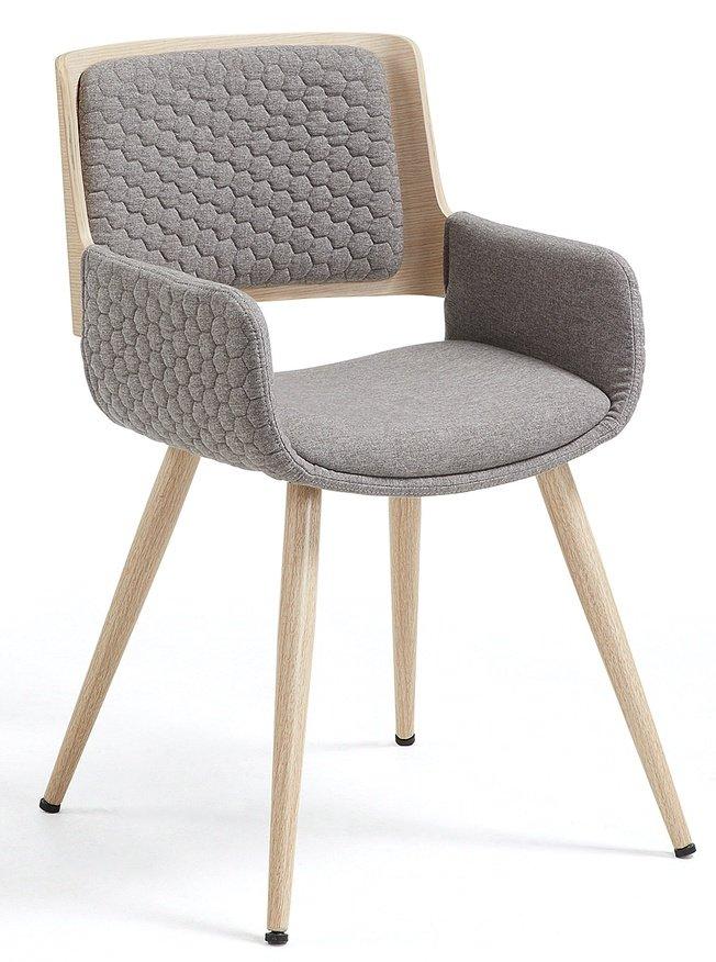Стул-кресло Andre, светло-серое фото
