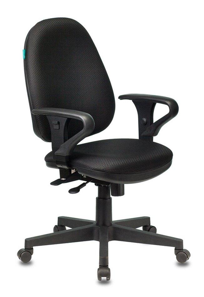 Кресло офисное T-612AXSN, черная ткань фото