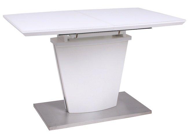 Стол обеденный раскладной GOLF, белый матовый фото