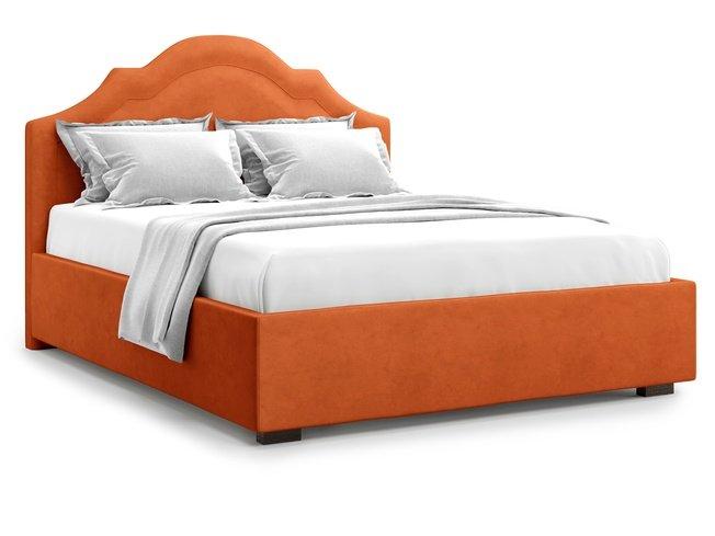 Кровать 1800 Madzore без подъемного механизма, оранжевый велюр velutto 27 фото