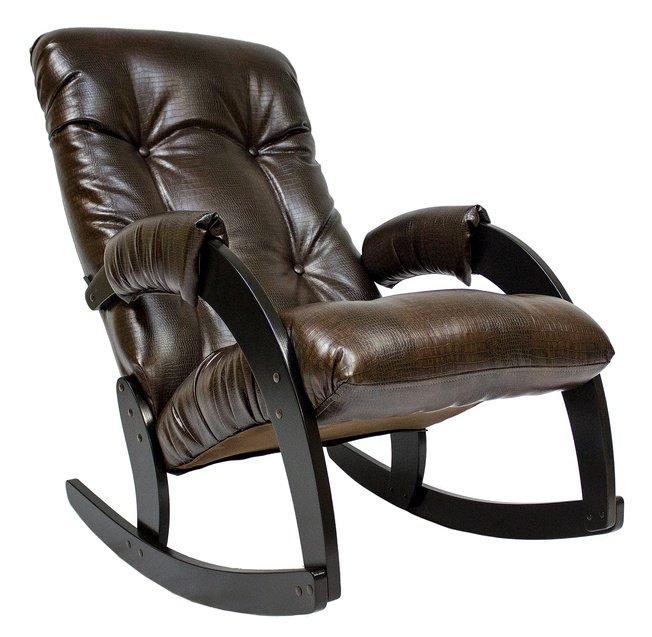 Кресло-качалка Модель 67, венге/Antik crocodile фото