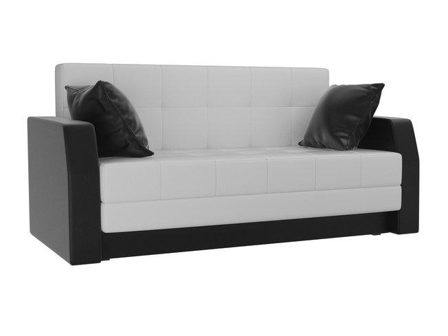 Диван-кровать Малютка, черный/белый/экокожа фото