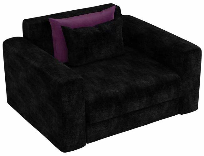 Кресло Мэдисон, черное/микровельвет фото