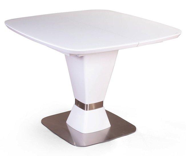 Стол раскладной Madison 1000, матовое закаленное стекло/белый фото
