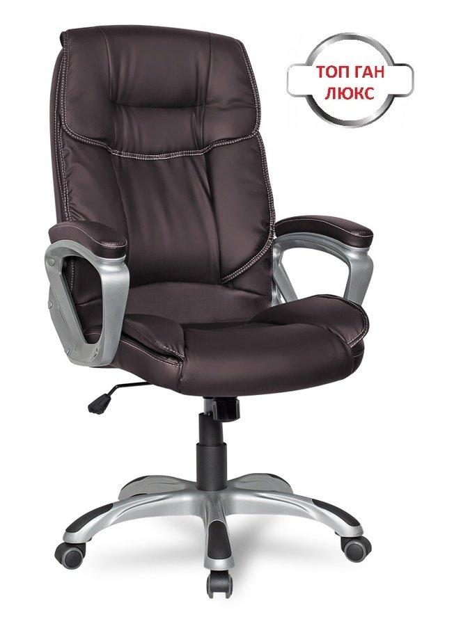 Кресло руководителя College CLG-615 LXH, коричневое фото