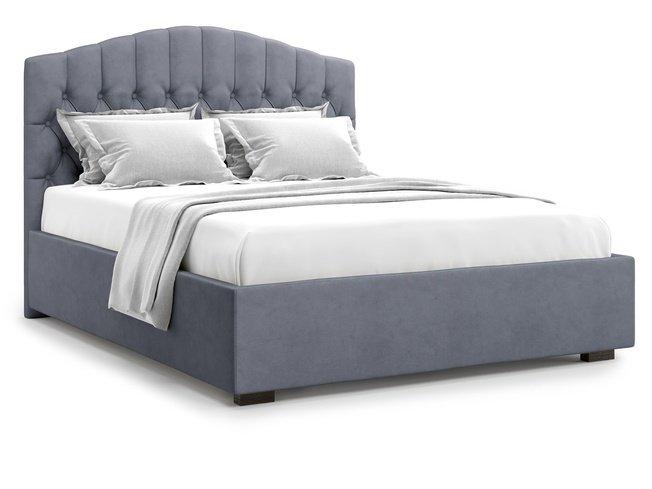 Кровать 1400 Lugano с подъемным механизмом, серый велюр velutto 32 фото