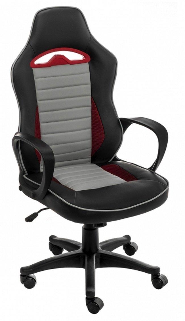 Компьютерное кресло Loki, серое/черное/красное фото
