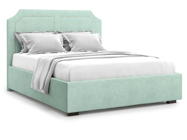 Кровать 1600 Lago без подъемного механизма, ментоловый велюр velutto 14 фото