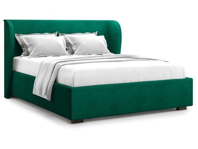 Кровать 1800 Tenno с подъемным механизмом, зеленый велюр velutto 33 фото
