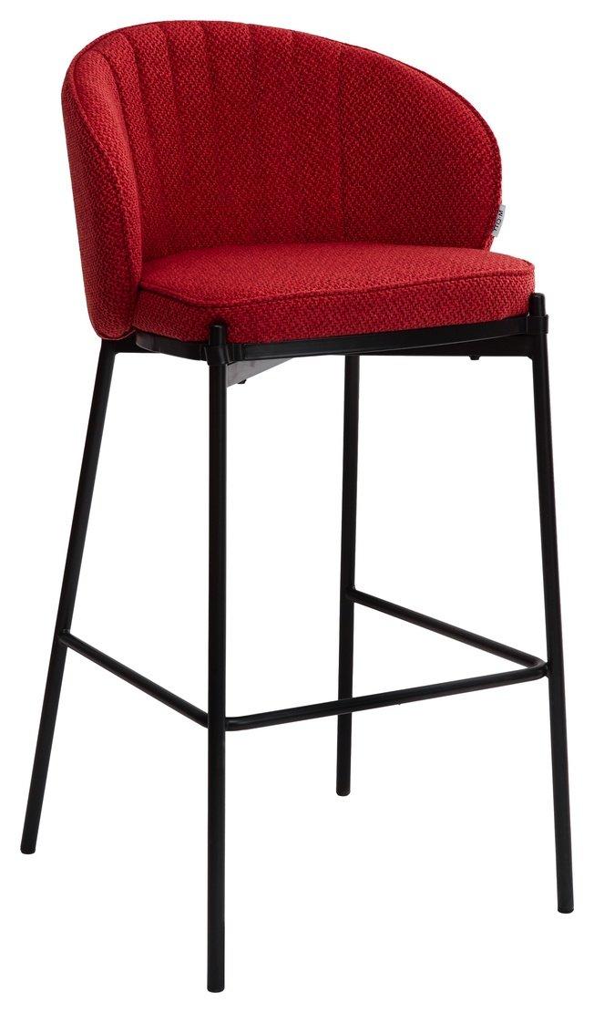 Барный стул WENDY, красная ткань фото