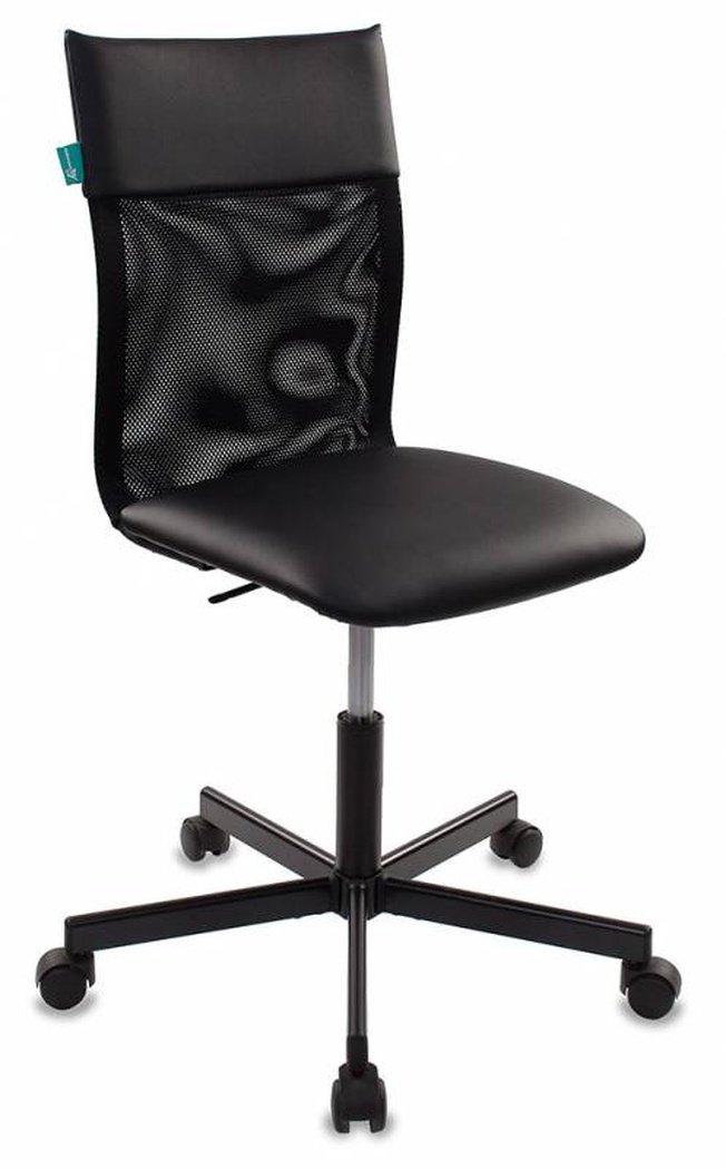 Кресло офисное CH-1399, черная экокожа/сетка фото