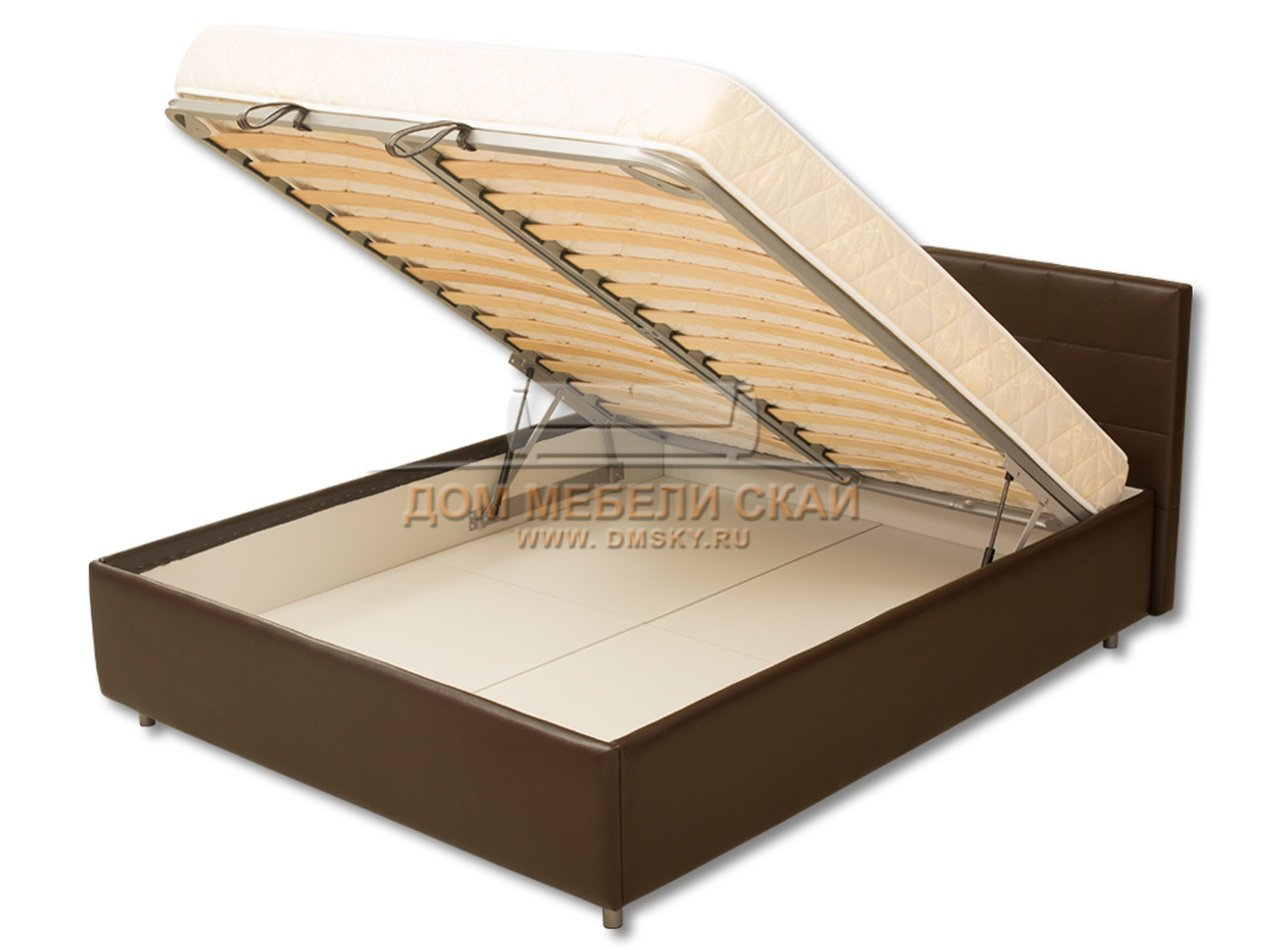 Кровать из экокожи с подъемным механизмом от производителя