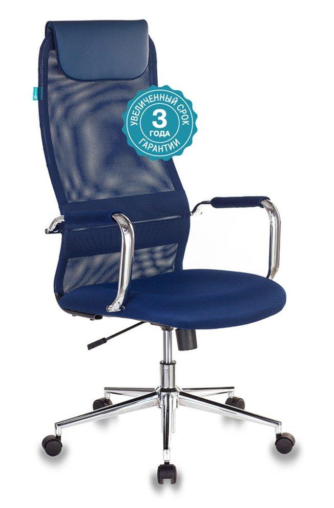 Кресло руководителя KB-9N, синяя сетка фото