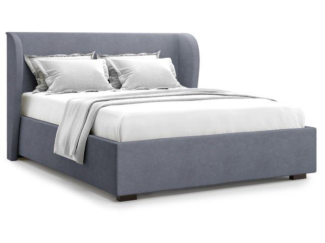 Кровать 1400 Tenno с подъемным механизмом, серый велюр velutto 32 фото