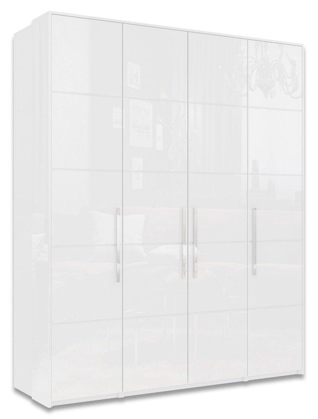 Шкаф 4-дверный Наоми, белый глянец фото