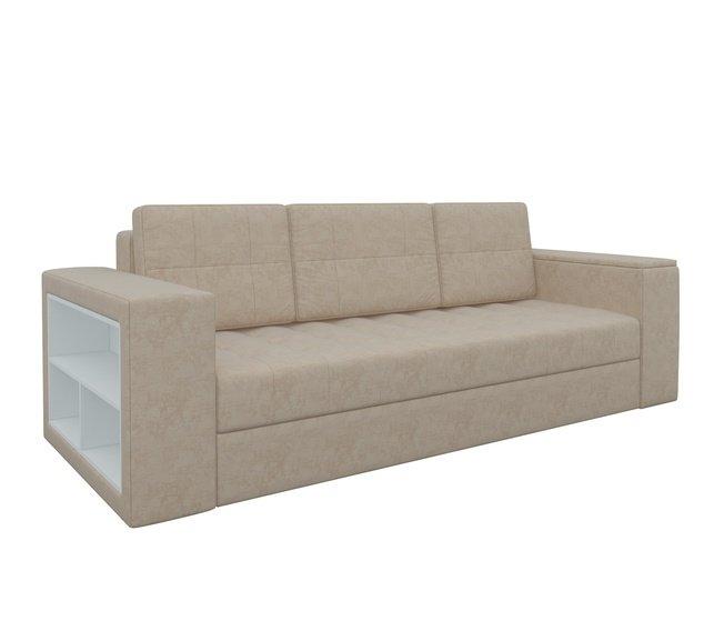 Диван-кровать Пазолини, бежевый/микровельвет фото