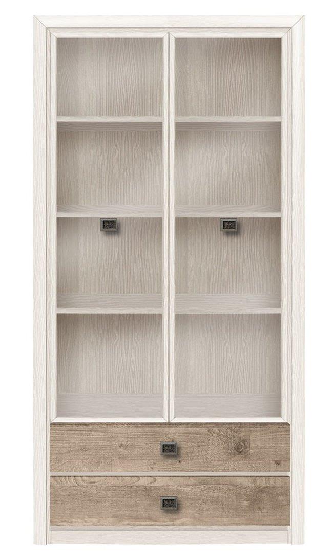 Шкаф-витрина 2-дверный Коен REG2W2S, ясень снежный фото