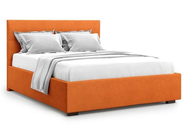 Кровать 1600 Garda без подъемного механизма, оранжевый велюр velutto 27 фото