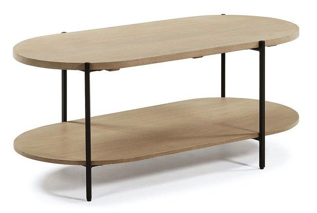 Журнальный столик Palmia 110x55, манго/бежевый фото