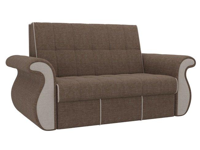 Диван-кровать аккордеон Родос, коричневый/бежевый/рогожка фото