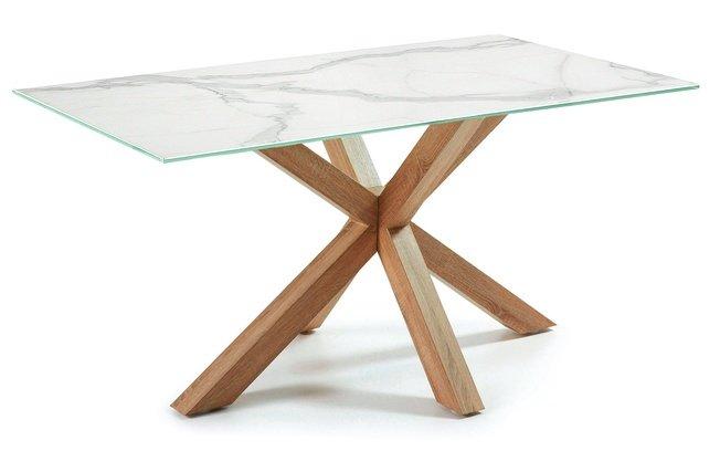 Стол обеденный Arya 160x90, C437K05 бежевый/мрамор фото