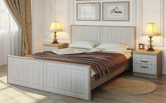 Кровать 1600 Соната с тумбами, дуб трюфель фото