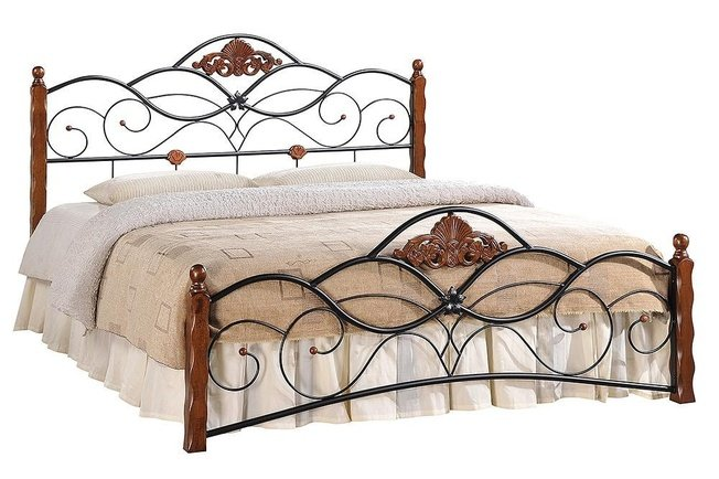 Кровать металлическая КАНЦОНА CANZONA 180x200см, черный фото
