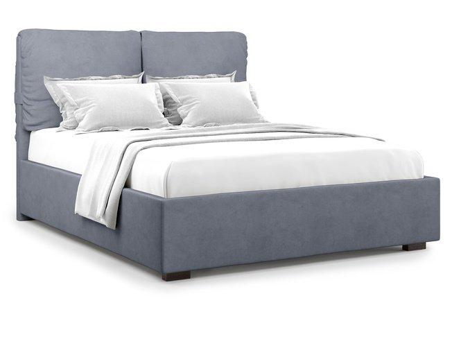 Кровать 1400 Trazimeno без подъемного механизма, серый велюр velutto 32 фото
