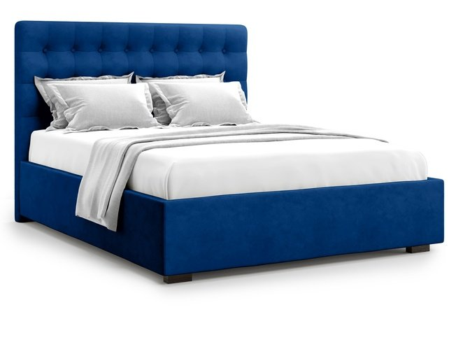 Кровать 1400 Brayers с подъемным механизмом, синий велюр velutto 26 фото