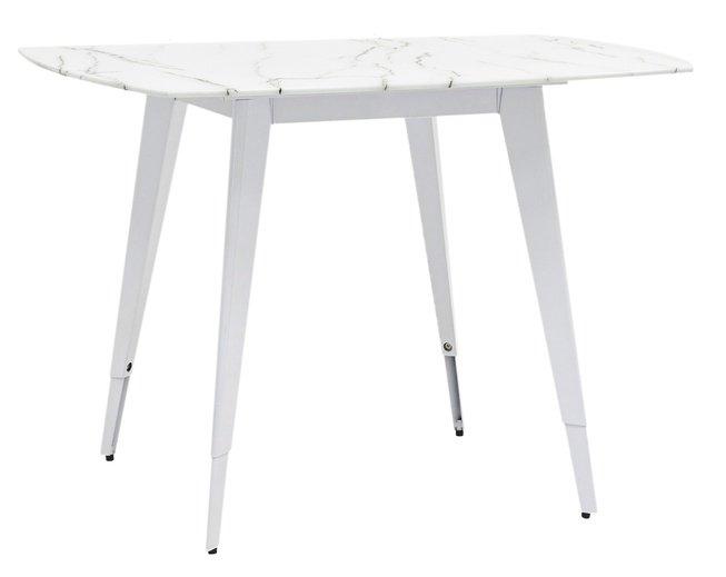 Стол обеденный Ричмонд 1000, белый/стеклянный фото