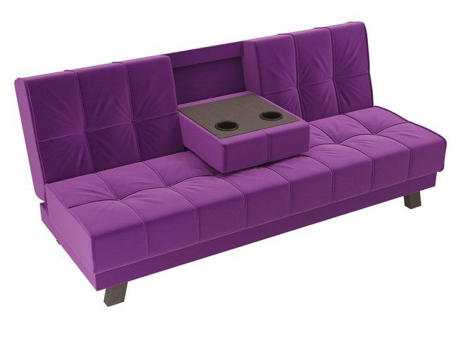 Диван-кровать Винсент, фиолетовый/микровельвет фото