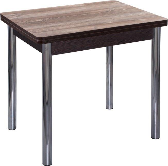 Стол обеденный раскладной Дрезден М-2 02, дуб темный/хром фото