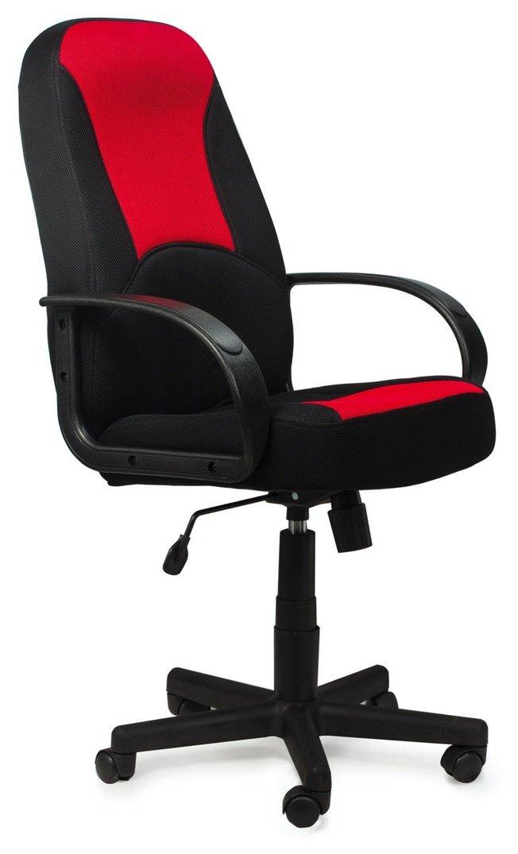 Кресло офисное Brabix City EX-512, ткань черная/красная фото