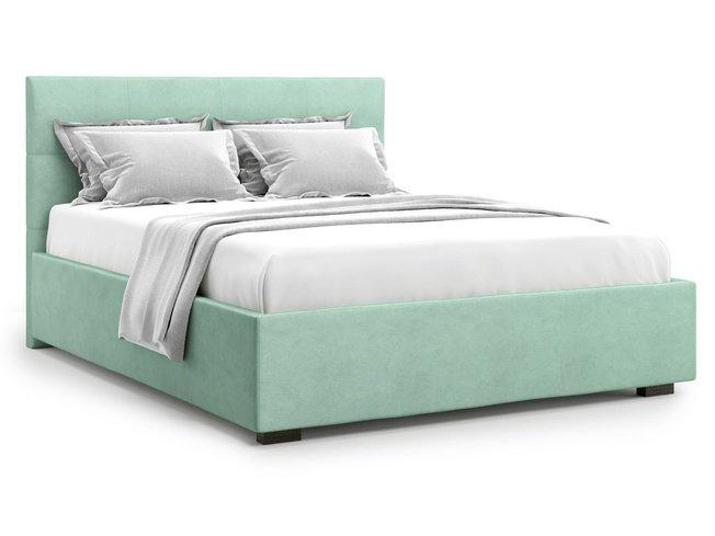Кровать 1400 Garda без подъемного механизма, ментоловый велюр velutto 14 фото