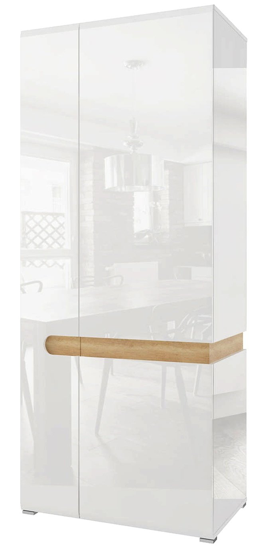 Шкаф 2-дверный для одежды Катания, белый глянец фото