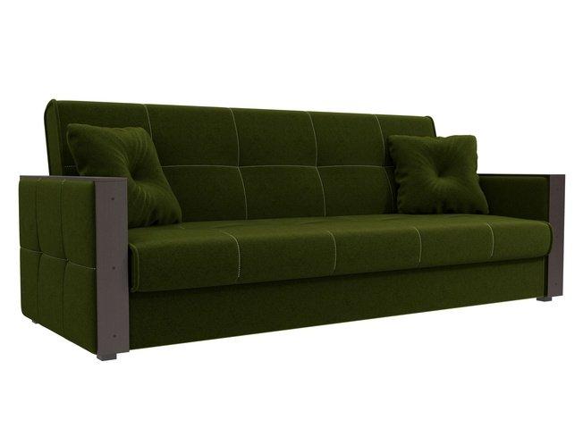 Диван-кровать книжка Валенсия, зеленый/микровельвет фото