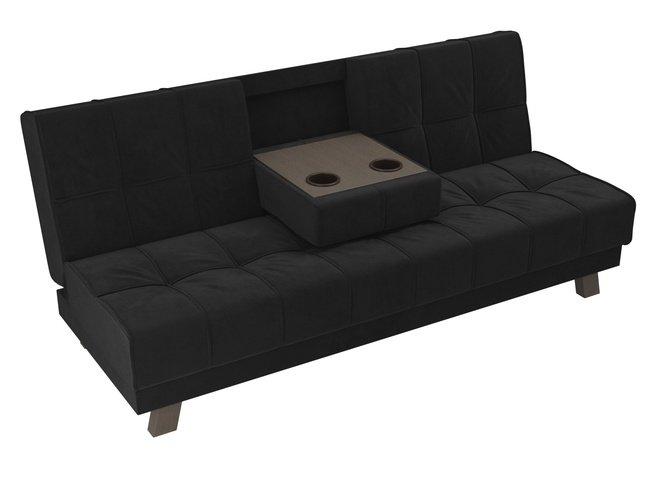 Диван-кровать Винсент, черный/велюр фото