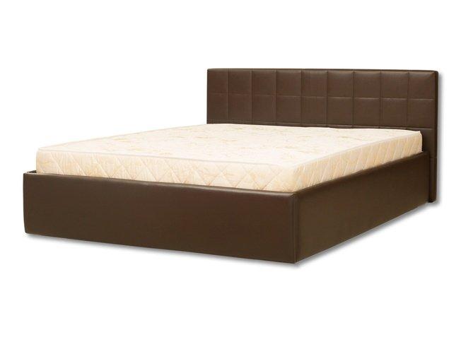 Кровать Люкс с подъемным механизмом 160x200, коричневая фото