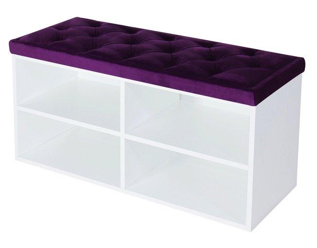 Обувница HD 900 белая, фиолетовая фото