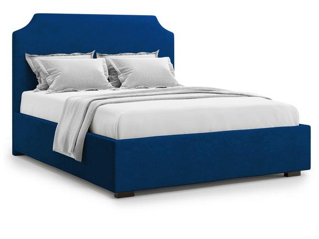 Кровать 1800 Izeo без подъемного механизма, синий велюр velutto 26 фото