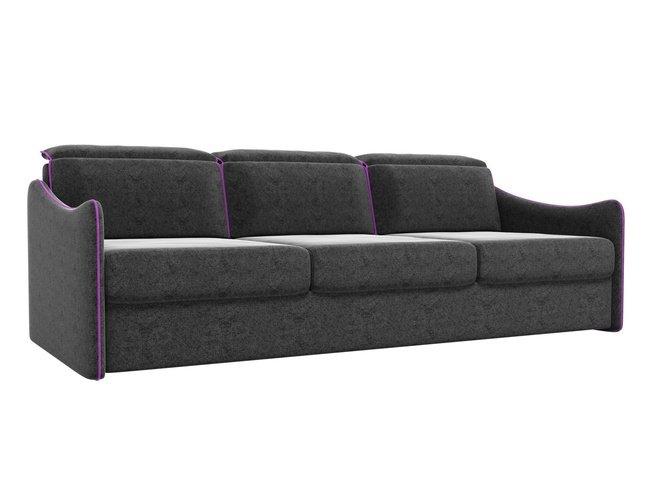 Диван-кровать Скарлетт, черный/микровельвет фото