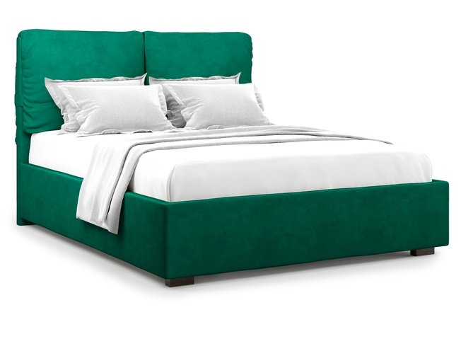 Кровать 1800 Trazimeno с подъемным механизмом, зеленый велюр velutto 33 фото