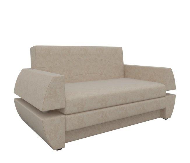 Диван-кровать Атлант Мини Т, бежевый/микровельвет фото
