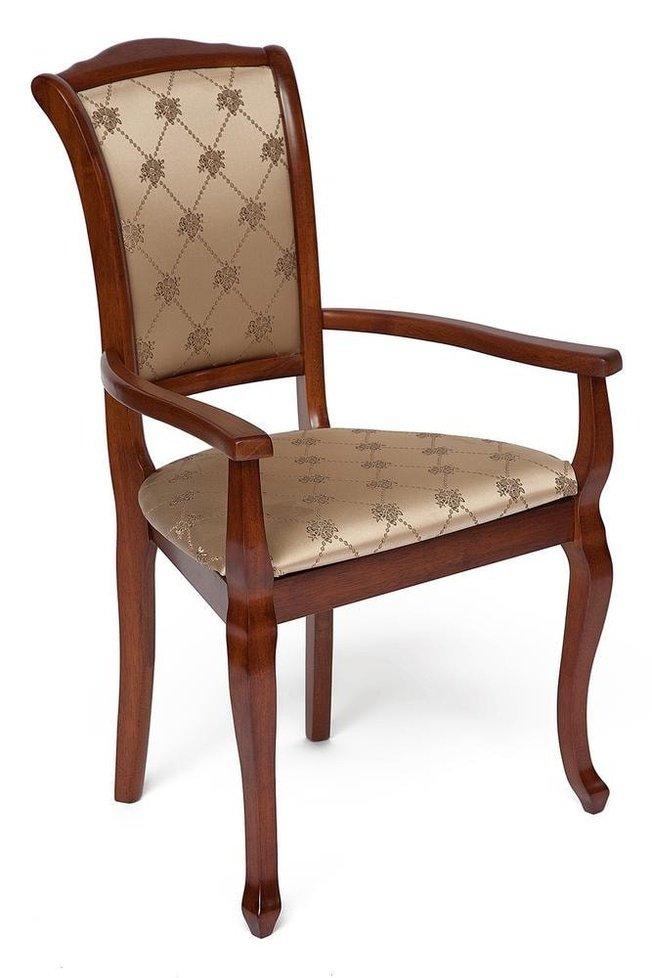 Кресло Geneva GN-AC, коричневый/золотистые цветы фото
