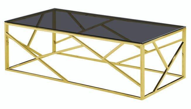 Журнальный стол Арт Деко 120x60, золото фото