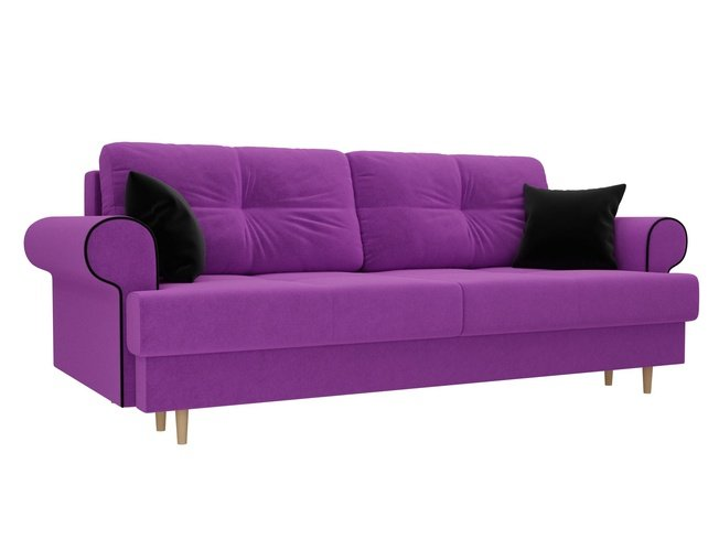 Диван-кровать Сплин, фиолетовый/микровельвет фото