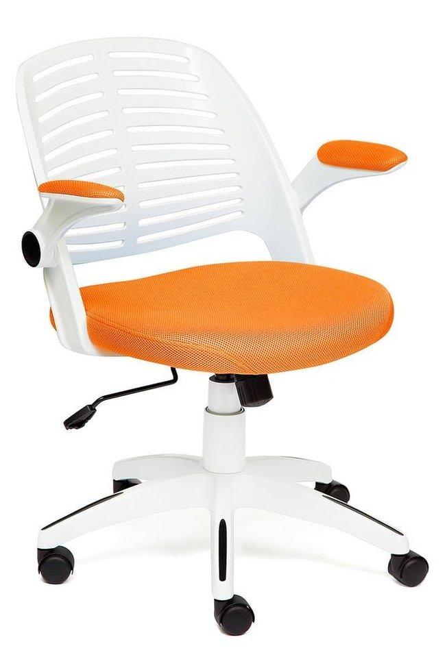 Кресло офисное Джой JOY, оранжевая сетка фото