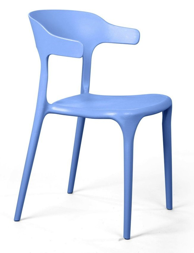 Стул Leo, пластик голубой фото
