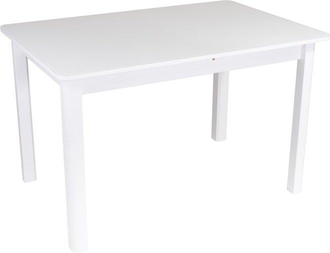 Стол обеденный раздвижной Танго ПР-4, белый/белое стекло фото